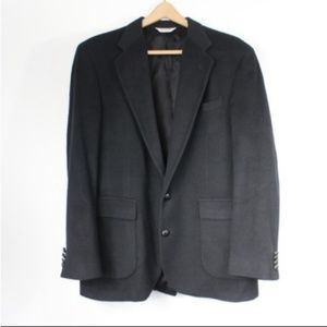 100% Camel Hair Men's Black Blazer
